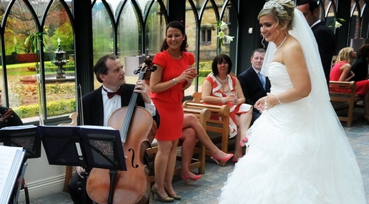 North East Soiree wedding String Quartet at Gisborough Hall